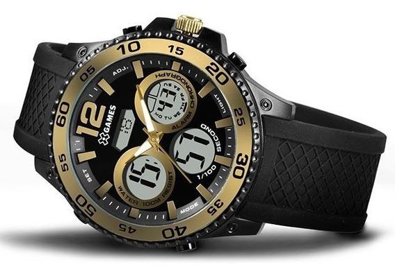 Relógio X Games Masculino Xmnpa005 Bxpx Anadigi Black