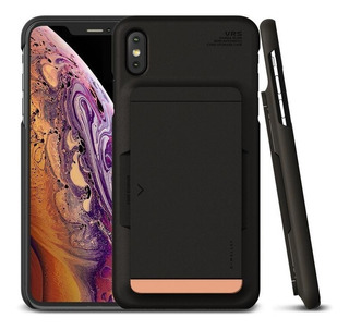 Funda iPhone Xs Max Xr Vrs Design Damda Glide Tarjetero