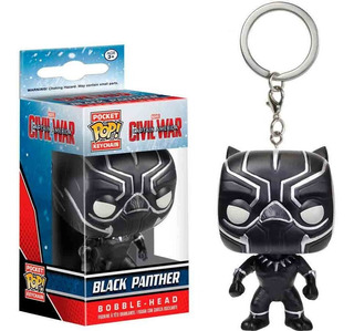 Funko Pop Keychain Captain America Civil War Black Panther