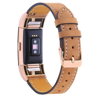 Pulseira Classic Para Fitbit Charge 2 - Couro - Marrom