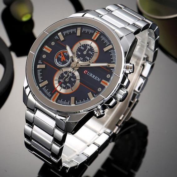 Relógio Masculino Original Curren 8274 Em Aço Inoxidável