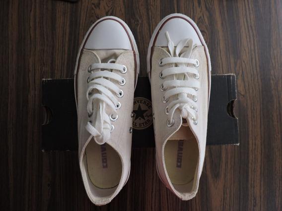 Gomas Botas Zapatos Converse Corte Bajo Imitación Casi Nueva