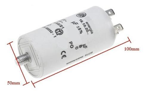 Imagen 1 de 1 de Capacitor Condensador Redondo 100mfd 100uf 250v Sin Cable Tornillo Bomba