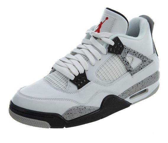 Jordan Retro 4 Blanca Tenis Jordan para Hombre en Mercado