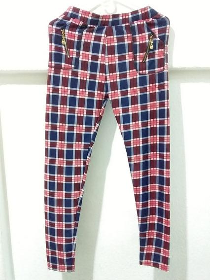Leggins / Pantalón De Dama. Diseño A Cuadro