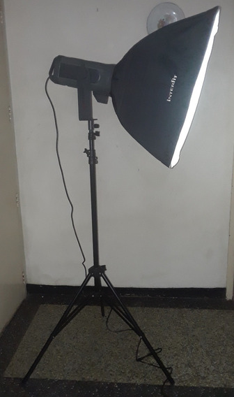 Equipo Fotográfico Flash Profesional Interfit Con Soft Box