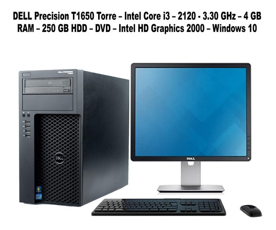 Computadora Dell Precision T1650 Intel Core I3/4gb/250hdd