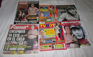 Chespirito En Revistas Fama, Hola, Tvynovelas, Tvnotas
