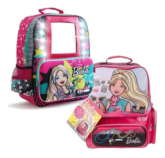 Mochila Barbie 17p Espejo O Bijou Mmk 16180