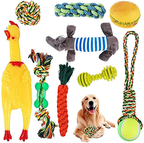 Dog Rope Toys For Aggressive Chewers Set Of 10 Nearly Indest