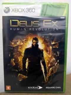 Xbox 360 Deus Ex Human Revolution! Mídia Física! Lacrado
