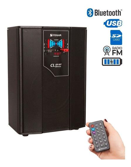 Caixa Multiuso Frahm Usb Sd Fm Bluetooth 50w C/ Bateria 12 V