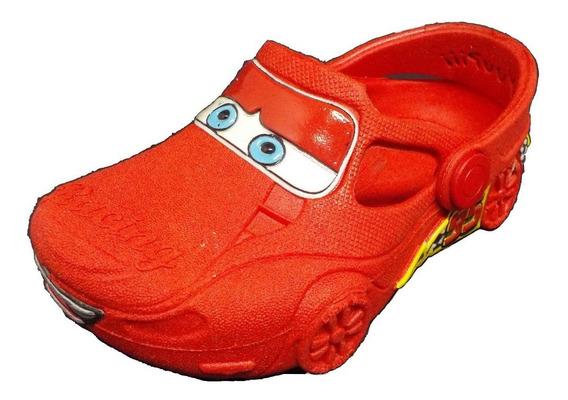 Promoção Babuche Infantil Racing Carros Vermelho