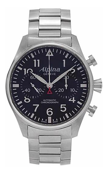 Relógio Original Alpina Startimer Pilot Chronograph Novo
