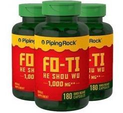 Fo-ti 1000mg He Shou Wu 180 Cápsulas Piping Rock Import Eua!