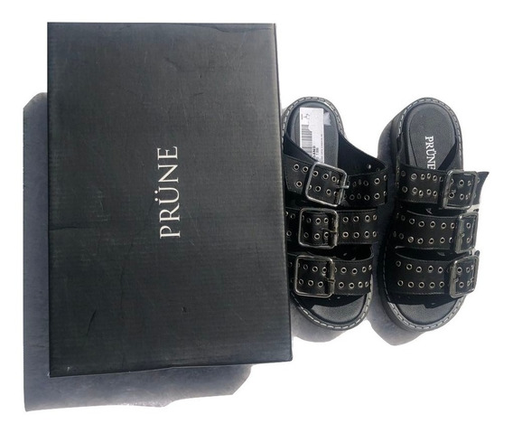 Zapatos Sandalias Prune Cuero Talle 36 Con Caja Original