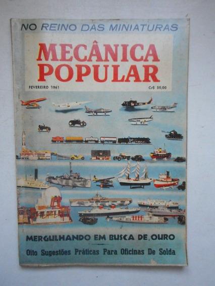 Revista Mecânica Popular - Fev/1961 - Miniaturas