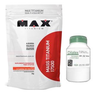 Mass Titanium 17500 3kg Max Titanium + Dilatex 152 Cáps