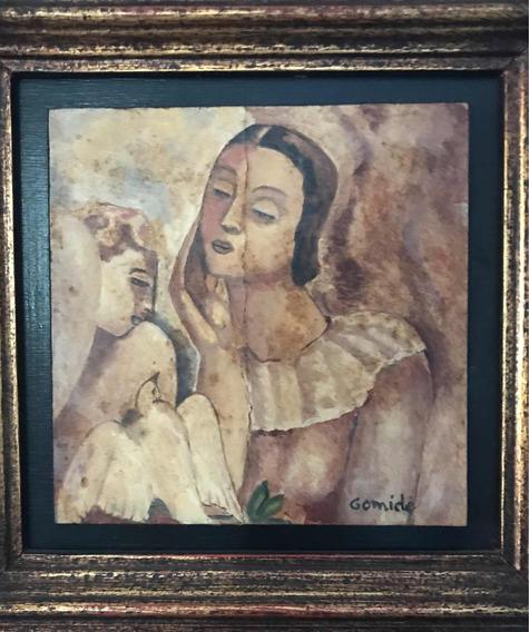 Pintura À Óleo Sobre Madeira Ass. Por Antonio Gomide