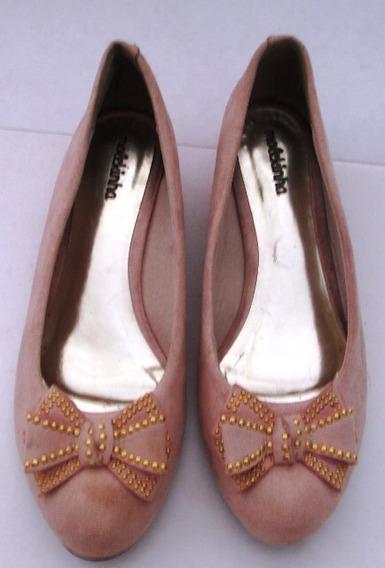 C1965 Sapato Molekinha Em Camurça 34 Com Salto 3, Usado, Em