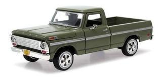 Miniatura Pickup Ford F-100 1969 1/24 Metal