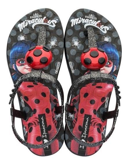 Sandalia Infantil Ladybug - Preto - Ref.26.283