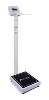 Balança Antropométrica Digital 200kg Divisão 100g Led Welmy