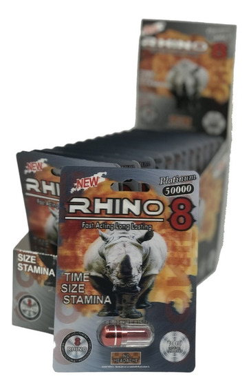 2 Pastillas Vigorizantes - Rhino 8 Platinum
