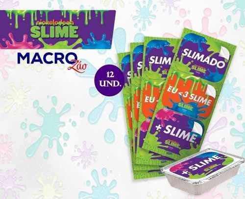 Adesivos Slime Para Marmitinha Lembrança Aniversario 12un.