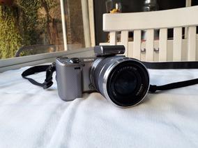 Câmera Sony Alpha Silver Modelo Nex 5r E 3.5-5.6/18-55 Oss