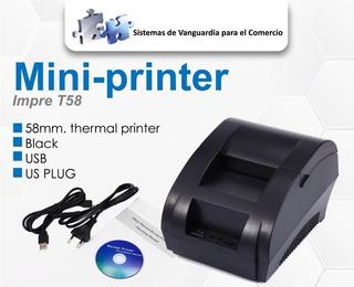 Impresora Térmica De Tickets Modelo Tm58 Usb Marca Symcode