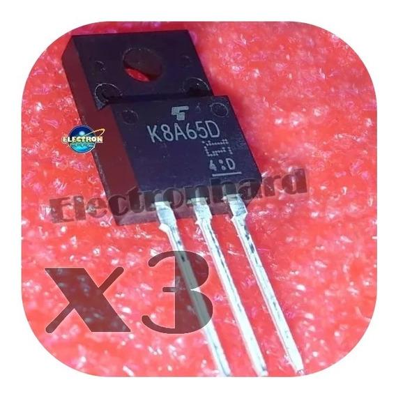 Set X 3 K8a65d K8a65 Tk8a65d Tk 8a65d Fet N 650v 8a 45w