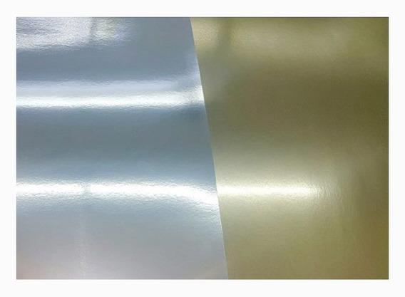 Cartulina Metalizada Oro Plata Escolar 45 X 62 - Pack X 10 U