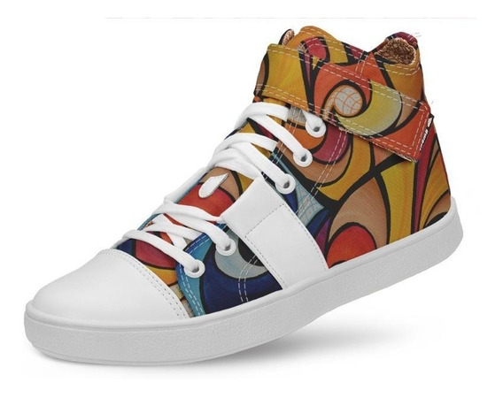 Tênis Usthemp Hi Fly Vegano Casual Art Fire Fury