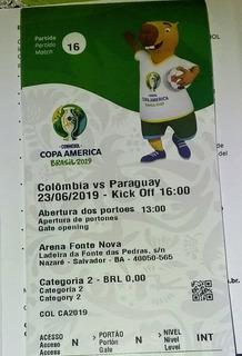 Ingresso Copa América Paraguai×colonbia