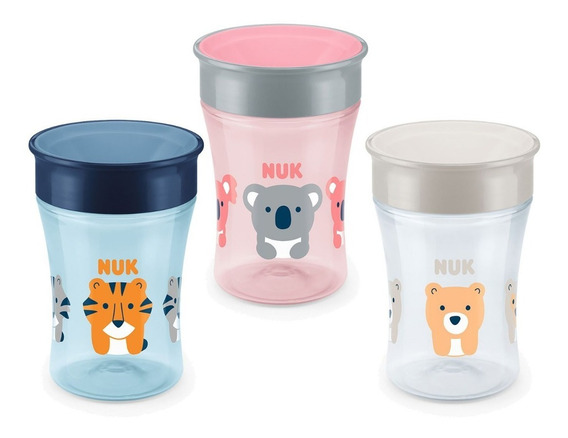 Magic Cup Vaso Evolution Nuk 250 Ml +8 Meses 360 Antigoteo