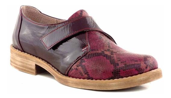 Zapato Cuero Mujer Botineta Briganti Goma Vestir Mccz03408 H