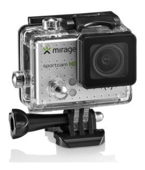 Câmera De Ação Sport Hd 5mp+ Cartão 16gb Com Acessórios Nova