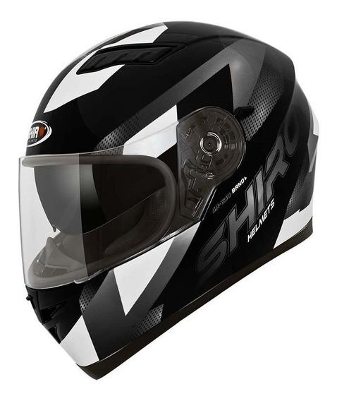 Casco Integral Moto Shiro Sh 600 Brno Negro Brillo Yuhmak