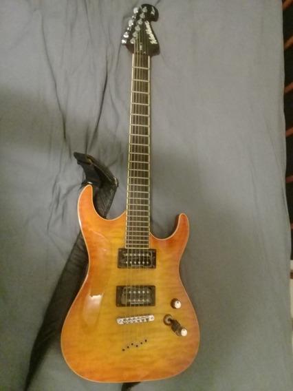 Guitarra Washburn X50 Com Braço Inteiriço + Pedaleira Me 25