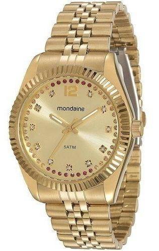 Relógio Feminino Mondaine Dourado 94789lpmvds2-l1/2 Feminin