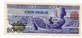 Un Billete 100 Pesos Carranza Y Chac Mool 2
