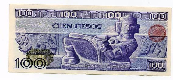 Billete 100 Pesos Carranza Y Chac Mool 2