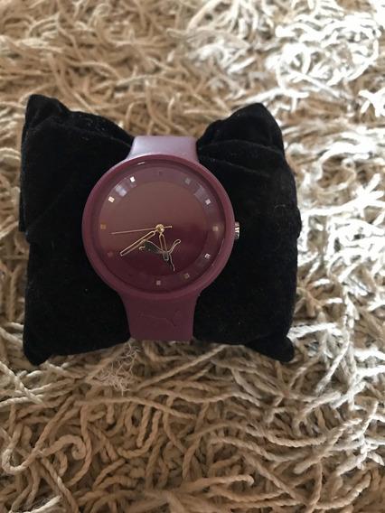 Relógio Puma Feminino Roxo Usado - R$ 240,00promoção