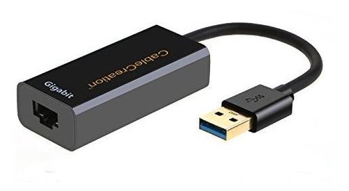 Imagen 1 de 7 de Usb A Ethernet, Adaptador De Red Usb 3.0, Cablecreation Usb