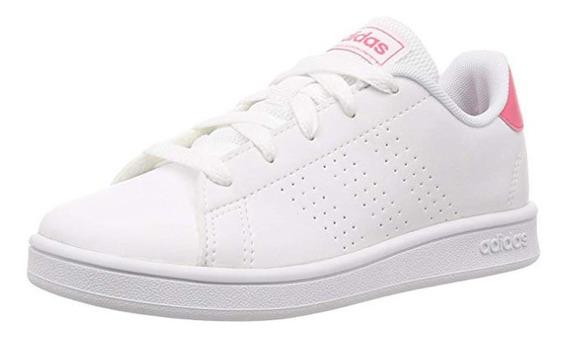Tenis adidas Advantage K Ef0211 Blanco Rosa Talla 24.5