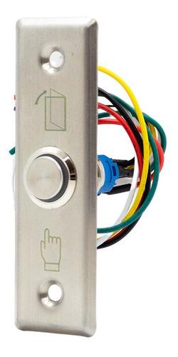 Imagen 1 de 9 de Boton Rex De Salida Con Led Metálico Rectangular Acceso B22a