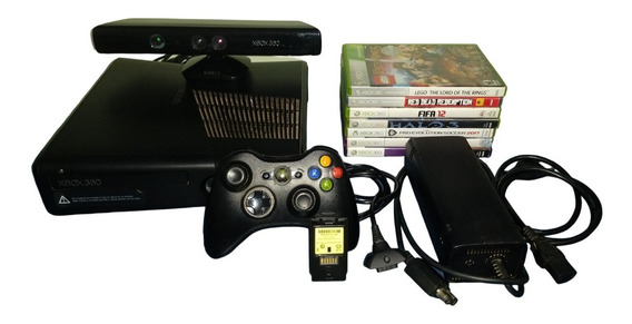 Xbox 360 250gb Semi-novo Com Kinect + 28 Jogos Originais