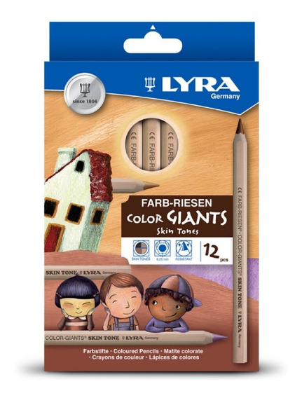 Lapices De Colores Skin Tones Lyra 12 Pzs