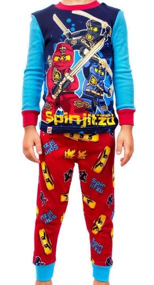 Pijama Lego Para Niños De Ninjago Spinjitzu Azul Y Rojo